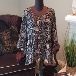 Simply Emma Sheer Baby doll top • sz 3X